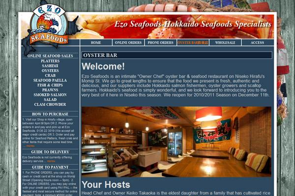 Ezo Seafoods - About page